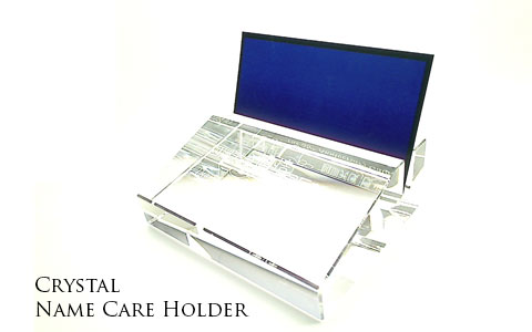 Crystal name card holder gift and premium